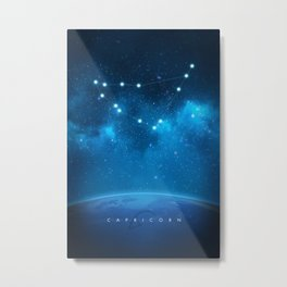 Capricorn: Astrological Art Metal Print