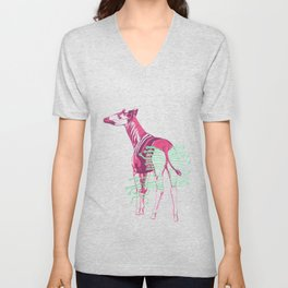 Okapi, Ready to Charge 3 Unisex V-Neck