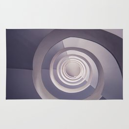 Spiral staircase in tones Rug