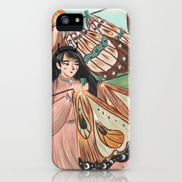 Hanging butterflys' wings iPhone Case