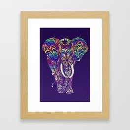 Not a circus elephant #violet by #Bizzartino Framed Art Print