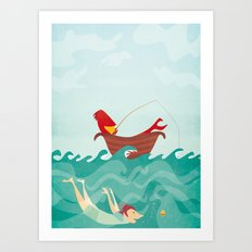 Seafood is Overrated Art Print