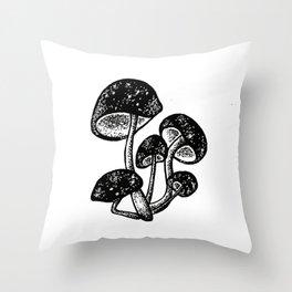 Magic mushrooms Throw Pillow