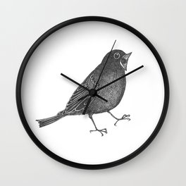 mr screamy the bird yells at the top of his lungs Wall Clock