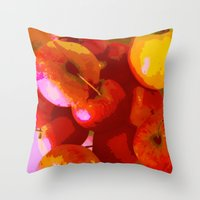apple Throw Pillows featuring Apple by Mr and Mrs Quirynen