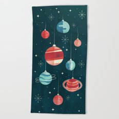 Joy to the Universe (in Teal) Beach Towel