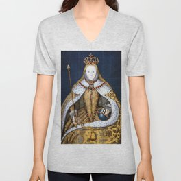 Queen Elizabeth I of England in Her Coronation Robe Unisex V-Neck