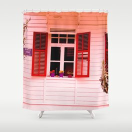 From my red window. Shower Curtain