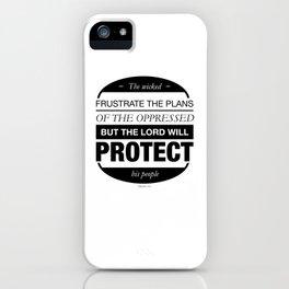 Psalms 14:6 iPhone Case