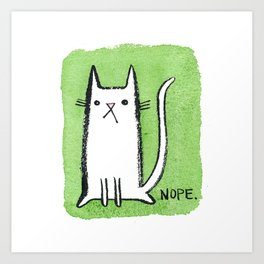 Nope Kitty Art Print