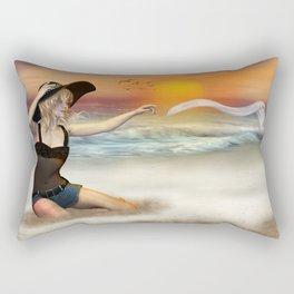 Tag am Strand Rectangular Pillow