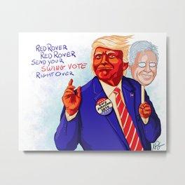 Donald Trump, Gary Johnson Metal Print