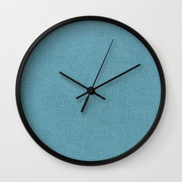 Solid Turquoise Blue Wall Clock