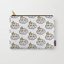 April showers king cloud White #nursery Carry-All Pouch