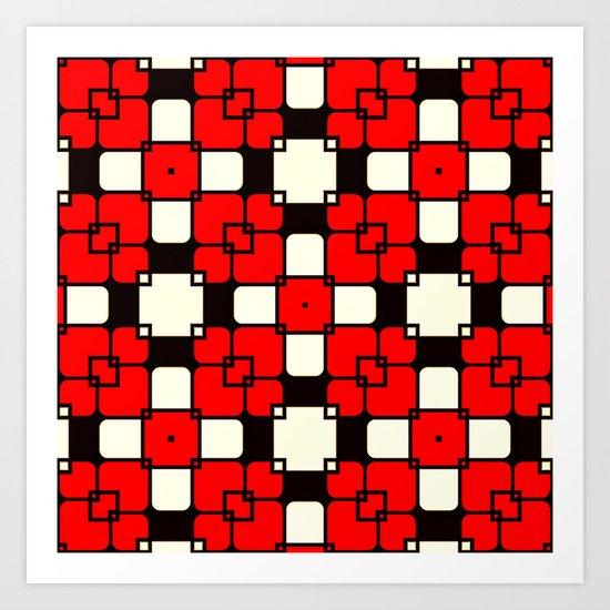 Seventies Mosaic Art Print