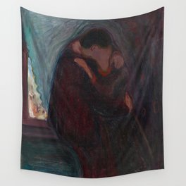 The Kiss - Edvard Munch Wall Tapestry