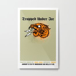 Trapped Under Ice Metal Print