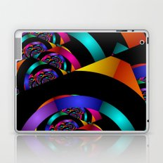 many colors on black Laptop & iPad Skin