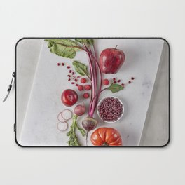 Red Organic Fruits and Vegetables Laptop Sleeve