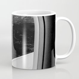 Window Seat // Scenic Mountain View from Airplane Wing // Snowcapped Landscape Photography Coffee Mug