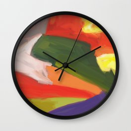 Desert Island Daydreaming Abstract Landscape Wall Clock