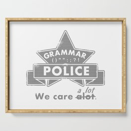 Grammar Police Serving Tray