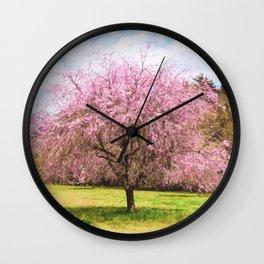Beautiful cherry blossoms Wall Clock