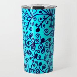 Bindweed in sky blue Travel Mug