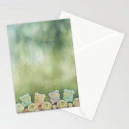 Piggies on a flute  Stationery Cards