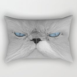 White Angry Cat Rectangular Pillow