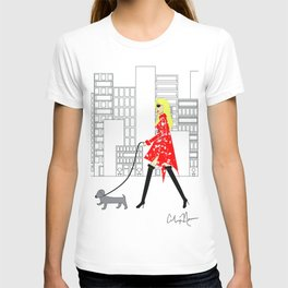 Red Jacket & the City Fashion Illustration T-shirt