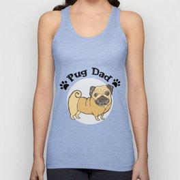 Pug Dad Funny Love Dog Pet Gift Unisex Tank Top
