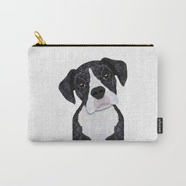Black & White Boxer Carry-All Pouch