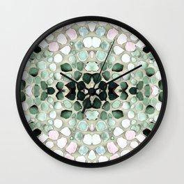 Pastel Pebble Wall Clock