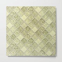 Colorful Seamless Rectangular Geometric Pattern III Metal Print