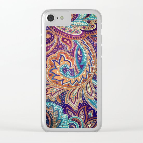 Summer paisley Clear iPhone Case