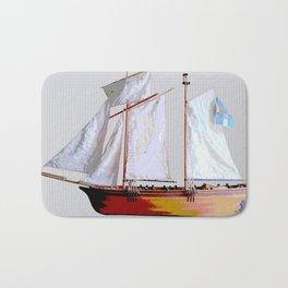 Sailing ship, abstract. Bath Mat
