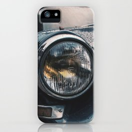 Close Up Of Car Headlight iPhone Case