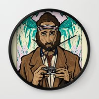 royal tenenbaums Wall Clocks featuring Richie Tenenbaum (Royal Tenenbaums) Movie Poster Print  by Nick Howland