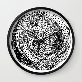 Moon Cookie Origami Doodle Wall Clock