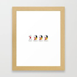 1999 - NAVY - My Year of Birth Framed Art Print