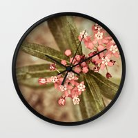 botanical Wall Clocks featuring Botanical by MZ Photography