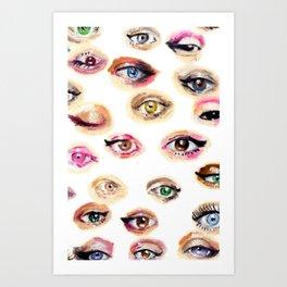 Eyes Eyes Art Print
