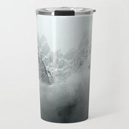Mont Blanc in Black and White Travel Mug