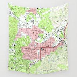 Map of Prescott Arizona (1973) Wall Tapestry