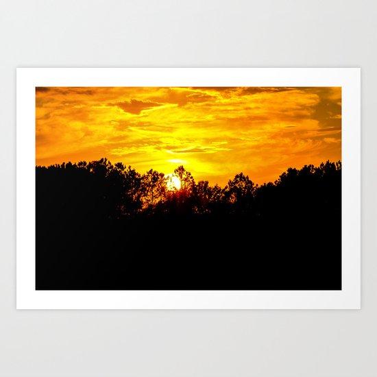 Blazing Sky Art Print