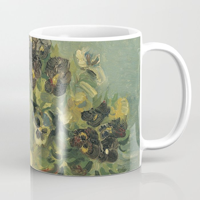 Basket of Pansies by Vincent van Gogh Coffee Mug by palazzoartgallery