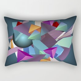 3D Geometric Rectangular Pillow
