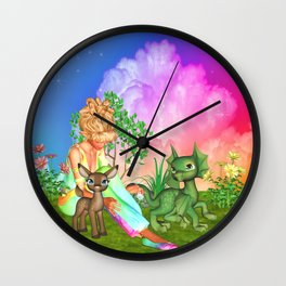 Magical Day With Friends Wall Clock