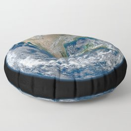 Planet Earth from Above Floor Pillow
